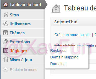 réglage wordpress