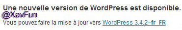 mise a jour wordpress 3.4.2