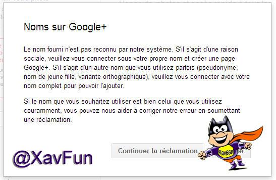 Nom Google Plus