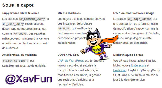 mise à jour WordPress 3.5