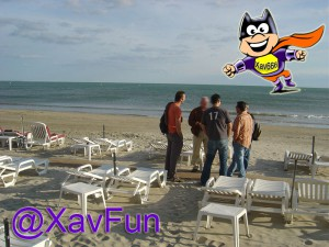 SEO camp day on the beach