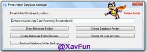 Show Database Folder