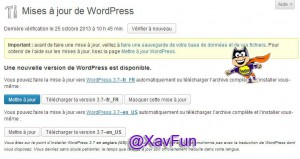 maj wordpress