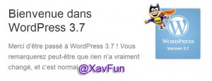 Mise à jour WordPress 3.7