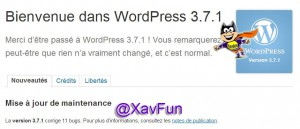 mise a jour wordpress 3.7.1