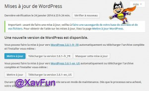 Mise à jour WordPress
