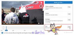 ajouter des fiches sur youtube